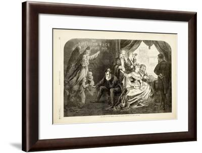 The Wife of the Period - Suffer No Little Children to Come Unto Me, 1869-Thomas Nast-Framed Giclee Print