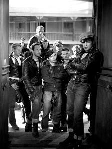 The Wild One, Jerry Paris, Alvy Moore, Marlon Brando, 1954