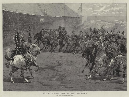 The Wild West Show at West Brompton-John Charlton-Giclee Print