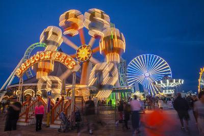 The Wildwood Beach Steel Pier's Ferris Wheel at Twilight with Blurred Motion-Richard Nowitz-Photographic Print