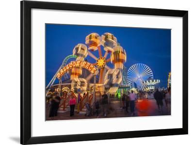 The Wildwood Beach Steel Pier's Ferris Wheel at Twilight with Blurred Motion-Richard Nowitz-Framed Photographic Print