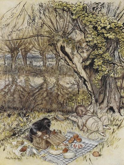The Wind in the Willows-Arthur Rackham-Premium Giclee Print