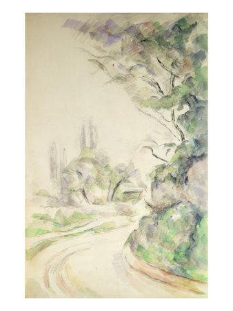 The Winding Road, c.1900-06-Paul C?zanne-Giclee Print