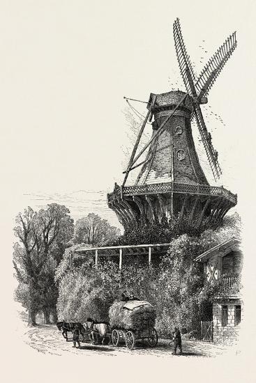 The Windmill, Potsdam, Germany, 19th Century--Giclee Print