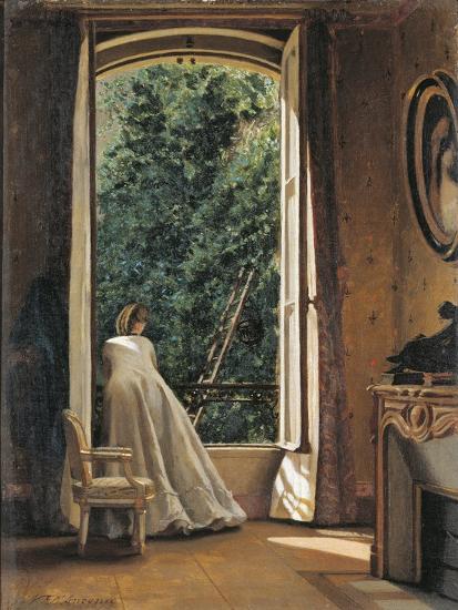 The Window Overlooking Apple Garden-Vito D'ancona-Giclee Print