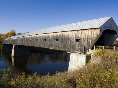 The Windsor Cornish Covered Bridge, Connecticut River, New Hampshire, USA-Jerry & Marcy Monkman-Photographic Print