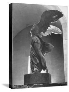 The Winged Victory of Samothrace Statue in the Louvre Museum, Probably Dating from Third