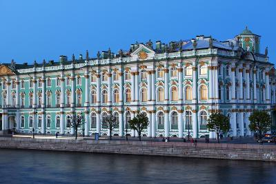 The Winter Palace in Evening Light, UNESCO World Heritage Site, St. Petersburg, Russia, Europe-Martin Child-Photographic Print