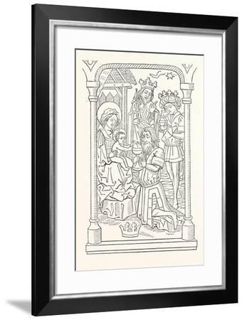 The Wise Men's Offering--Framed Giclee Print