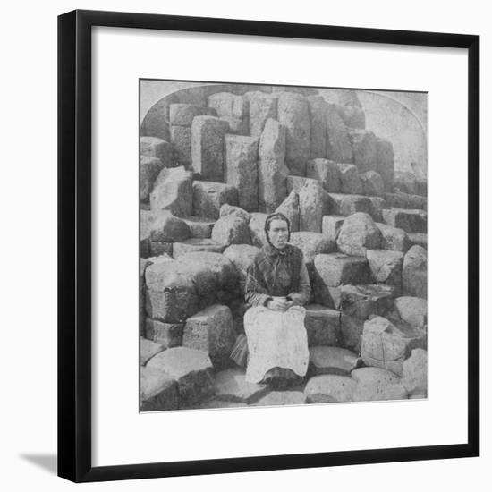 The Wishing Chair, Giant's Causeway, County Antrim, Ireland, 1887-Underwood & Underwood-Framed Giclee Print