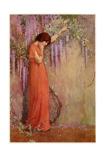 The Wisteria Girl-William A Hottinger-Giclee Print