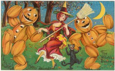 The Witch's Dance, Jack O'Lanterns, Cat