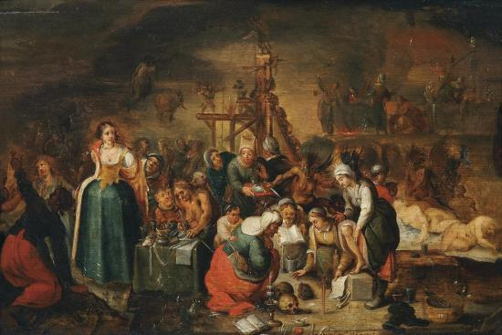 The Witches' Kitchen, Early 17th C-Frans Francken the Younger-Giclee Print