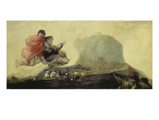 The Witches' Sabbath (Black Painting from the Quinta Del Sordo) 1820-23-Francisco de Goya-Giclee Print