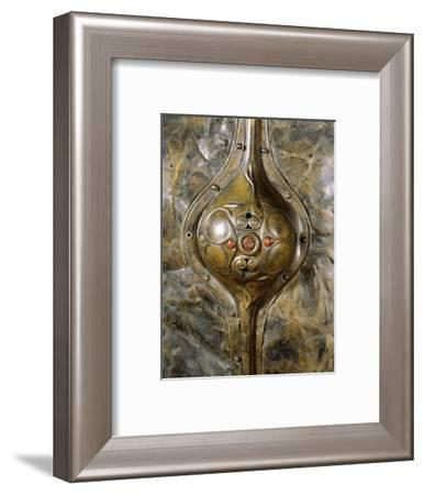 The Witham shield (detail), Ancient British, 3rd century BC-Werner Forman-Framed Giclee Print