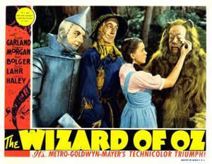 The Wizard of Oz, from Left: Jack Haley, Ray Bolger, Judy Garland, Bert Lahr, 1939