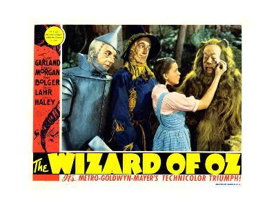 The Wizard of Oz, from Left: Jack Haley, Ray Bolger, Judy Garland, Bert Lahr, 1939--Giclee Print