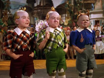 The Wizard of Oz, from Left: Jerry Maren, Harry Earles, 1939--Photo