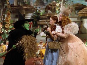 The Wizard of Oz, Margaret Hamilton, Judy Garland, Billie Burke, 1939