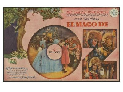 The Wizard of Oz, Spanish Movie Poster, 1939--Art Print