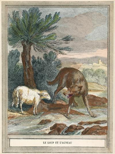 The Wolf and the Lamb-French School-Giclee Print