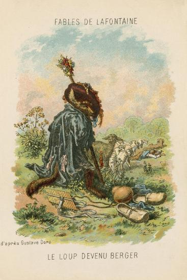 The Wolf Who Played Shepherd-Gustave Dor?-Giclee Print