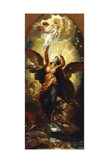 The Woman Clothed with the Sun Fleeth from the Persecution of the Dragon'-Benjamin West-Giclee Print