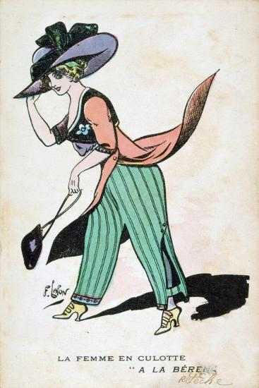 The Woman in Breeches, 20th Century-Francois Lafon-Giclee Print