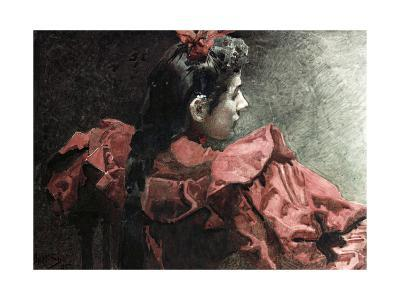 The Woman in Red, 1895-Mikhail Aleksandrovich Vrubel-Giclee Print