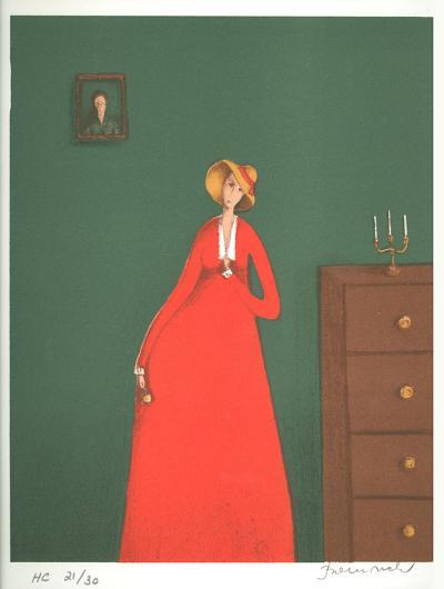 The Woman in Red-Branko Bahunek-Limited Edition
