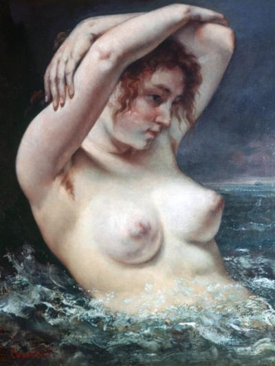 The Woman in the Waves, 1868-Gustave Courbet-Giclee Print