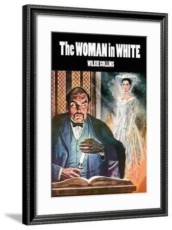 The Woman In White--Framed Art Print