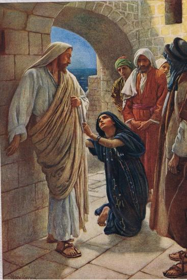 The Woman of Canaan, Illustration from 'Women of the Bible', Published by the Religious Tract…-Harold Copping-Giclee Print