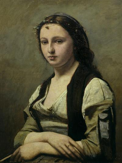 The Woman with the Pearl, circa 1842-Jean-Baptiste-Camille Corot-Giclee Print