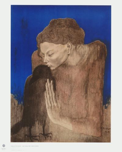 The Woman with the Raven-Pablo Picasso-Collectable Print
