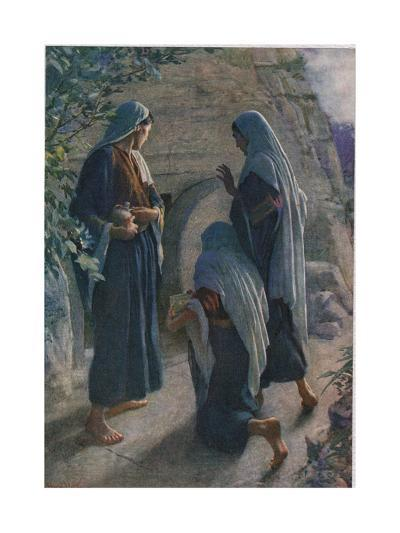 The Women at the Sepulchre, Illustration from 'Women of the Bible', Published by the Religious?-Harold Copping-Giclee Print