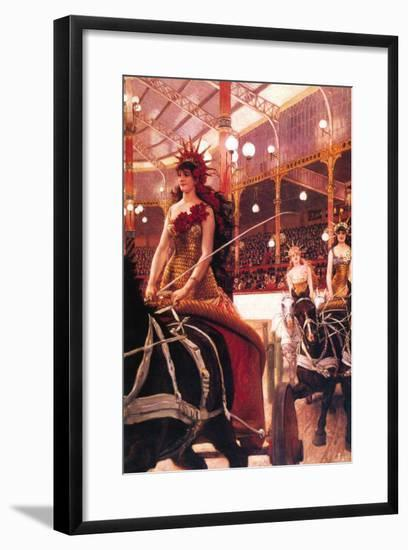 The Women In The Cars-James Tissot-Framed Art Print