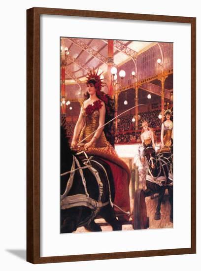 The Women In The Cars-James Tissot-Framed Art Print