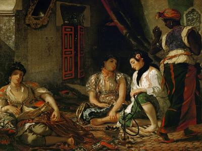 The Women of Algiers in Their Apartment-Eugene Delacroix-Giclee Print