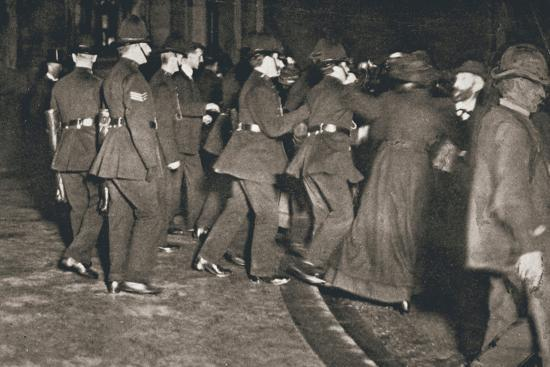 The Women's Freedom League attempting to enter the House of Commons, London, 1908-Unknown-Photographic Print