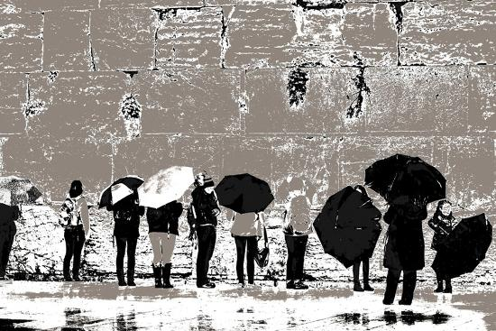The Women's Side, from the Series Tuesday at the Wailing Wall (2016)-Joy Lions-Giclee Print
