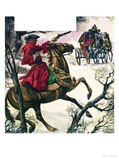 The Wonderful Story of Britain: Highwaymen and Robbers-Peter Jackson-Giclee Print