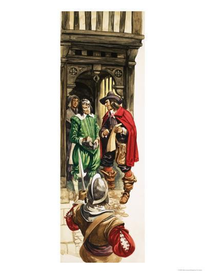 The Wonderful Story of Britain: King Charles the First. Tax Collectors-Peter Jackson-Giclee Print