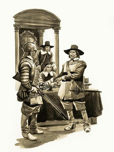 The Wonderful Story of Britain: Oliver Cromwell-Peter Jackson-Giclee Print