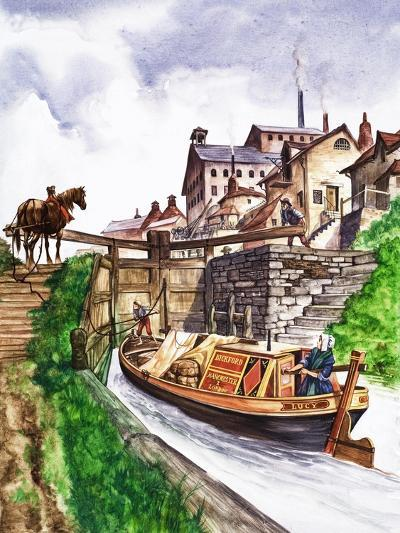 The Wonderful Story of Britain: Why Canals Are Made--Giclee Print