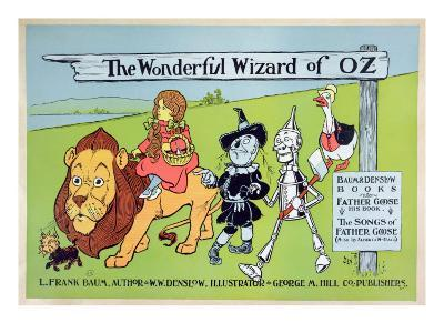 The Wonderful Wizard of Oz and Father Goose, C.1900-William W^ Denslow-Giclee Print
