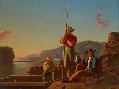 The Wood-Boat, 1850-George Caleb Bingham-Giclee Print