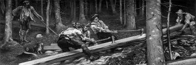 The Wood Cutters, C1880-1882-Hubert von Herkomer-Giclee Print