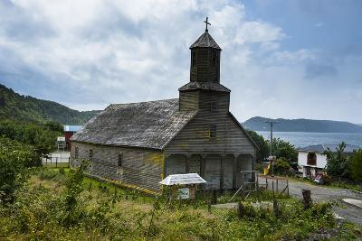 The Wooden Church of Detif, UNESCO World Heritage Site, Chiloe, Chile, South America-Michael Runkel-Photographic Print
