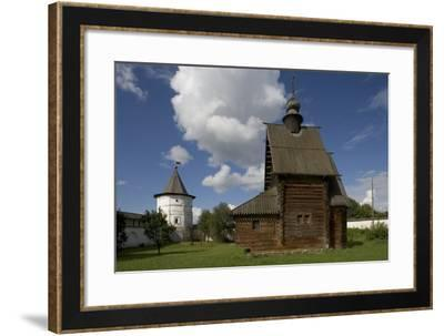 The Wooden Church of St George (1718) from Egorie Village--Framed Photographic Print